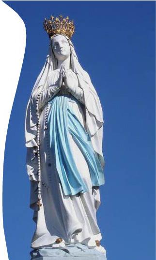 statut de la sainte vierge marie à Lourdes